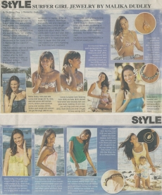 <h5>Midweek Feature</h5><p>&quot;StYLE: Surfer Girl Jewelry by Malika Dudley&quot;</p>