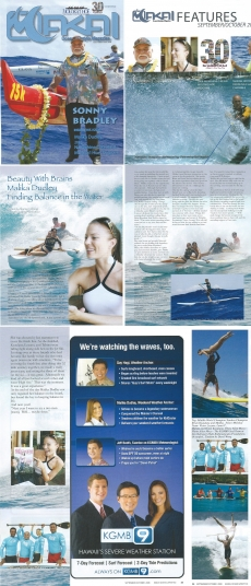<h5>Makai Magazine Cover Story</h5><p>&quot;Beauty with Brains, Malika Dudley Finding Balance in the Water&quot;</p>