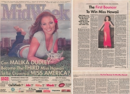 <h5>Midweek Cover Story</h5><p>&quot;The First Bouncer to Win Miss Hawaii&quot;</p>