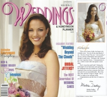 <h5>Hawaii Weddings Magazine</h5><p>Cover Story: Message to Brides</p>