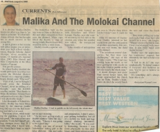 <h5>Midweek Feature</h5><p>&quot;Malika and the Molokai Channel&quot;</p>
