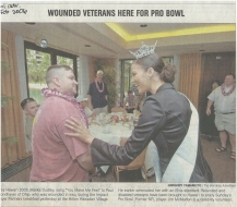 <h5>Honolulu Advertiser</h5><p>Wounded Veterans Here for Pro Bowl</p>