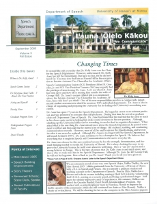 <h5>Speech Department News</h5><p>Miss Hawaii</p>