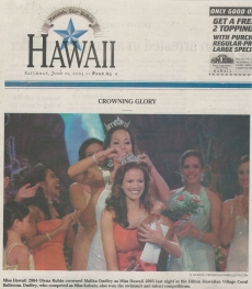 <h5>Honolulu Star</h5><p>Crowning Glory</p>