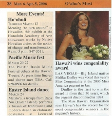 <h5>This Week Oahu</h5><p>Hawaii Wins Congeniality Award</p>