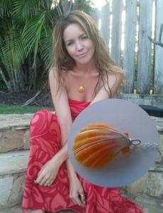 <h5>Spokesperson &amp; Model Amber Stone</h5><p>Spokesperson &amp; Model Amber Stone wears Surfer Girl Jewelry sunrise shell necklace. &#039;I love Surfer Girl Jewelry!&#039; ~ Amber</p>