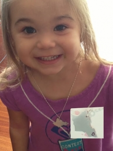 <p>Three-year-old Hana took her mama&#039;s necklace and said &quot;Mama, it&#039;s mine!&quot; ~ Hana</p>