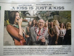 <h5>Hawaii Tribune Herald</h5><p>&quot;A Kiss is Just A Kiss&quot;</p>