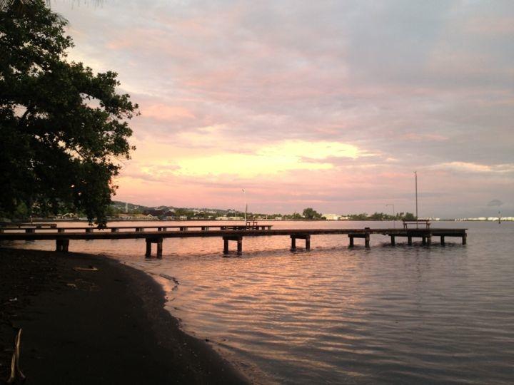 Tahiti sunrise at our vacation rental