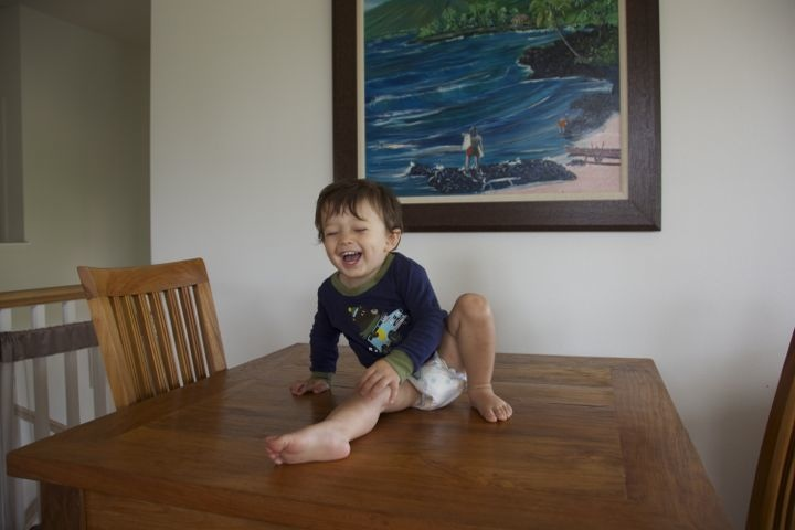 baby-climbing-kitchen-table
