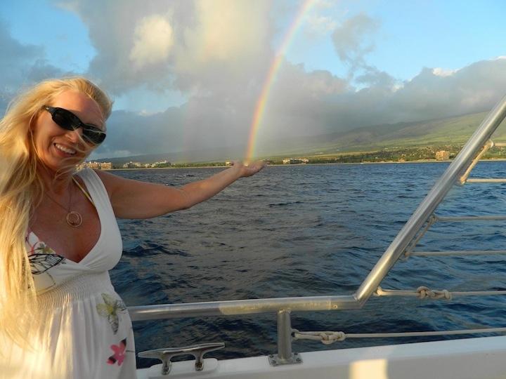 "Photo: Carol Simpson VanHorn ""Catching rainbows on Maui"""