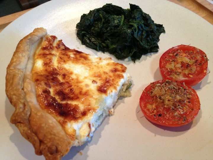 Zucchini & Honey Quiche and Tomatoes with Herbes de Provences