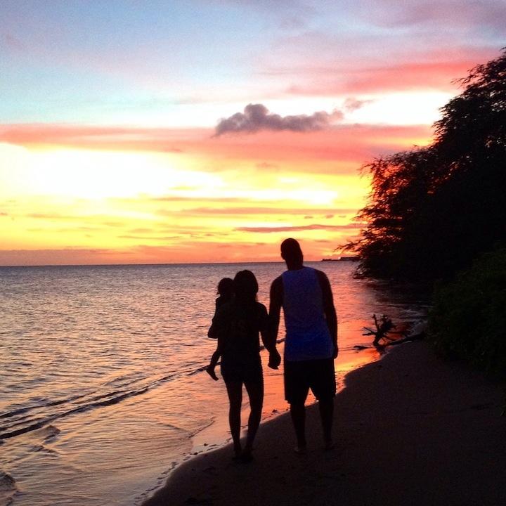 "Photo: Sarah Smith ""Life's Swell wathcing a Molokai sunset."""
