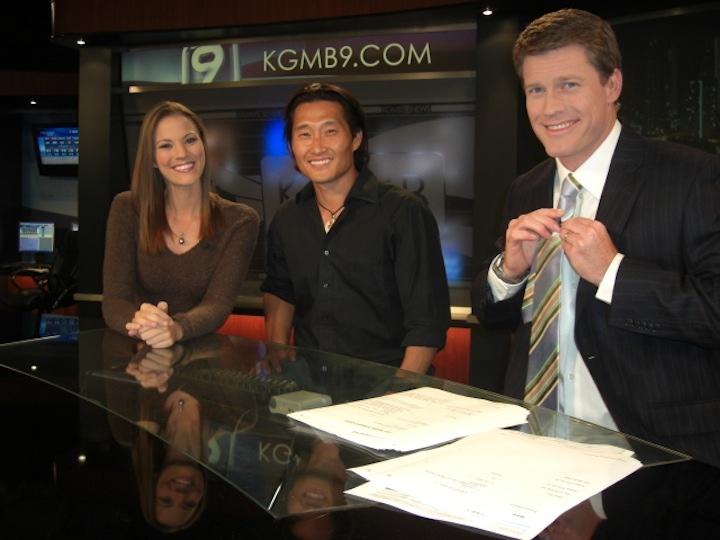 Daniel Dae Kim visits KGMB9 news