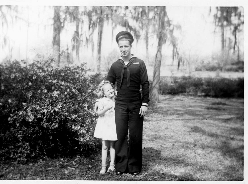 """""""Uncle AD escaped from a sinking submarine in the European theater during WWII. That's Aunt Sue next to him before he shipped off."""""""