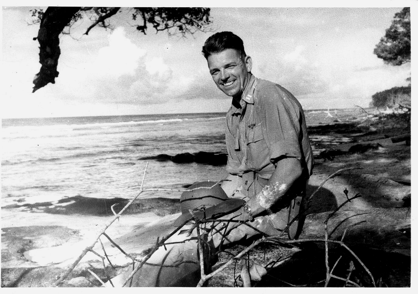 """""""Uncle Bill (William Westeveldt King) taken some where in the Pacific. He was the Captain of a bomber which crashed somewhere in Java in August 1945."""""""
