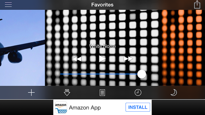 "This app is literally called ""White Noise"" but there's a bunch of other free apps out there too."